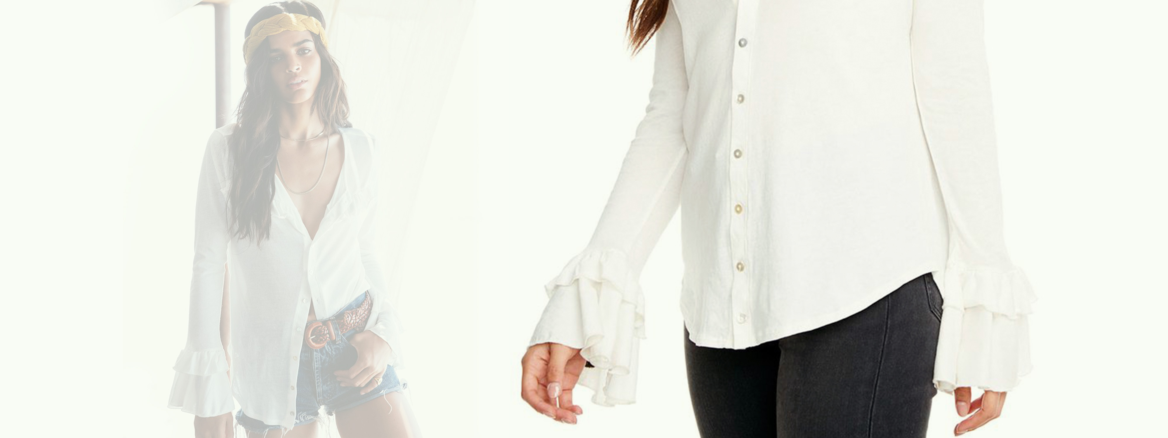 Chaser Gauzy Flare Top